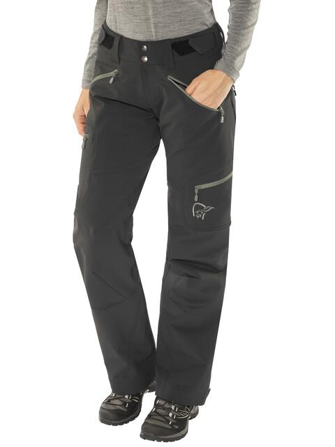 Norrøna Svalbard Flex1 - Pantalones de Trekking Mujer - negro